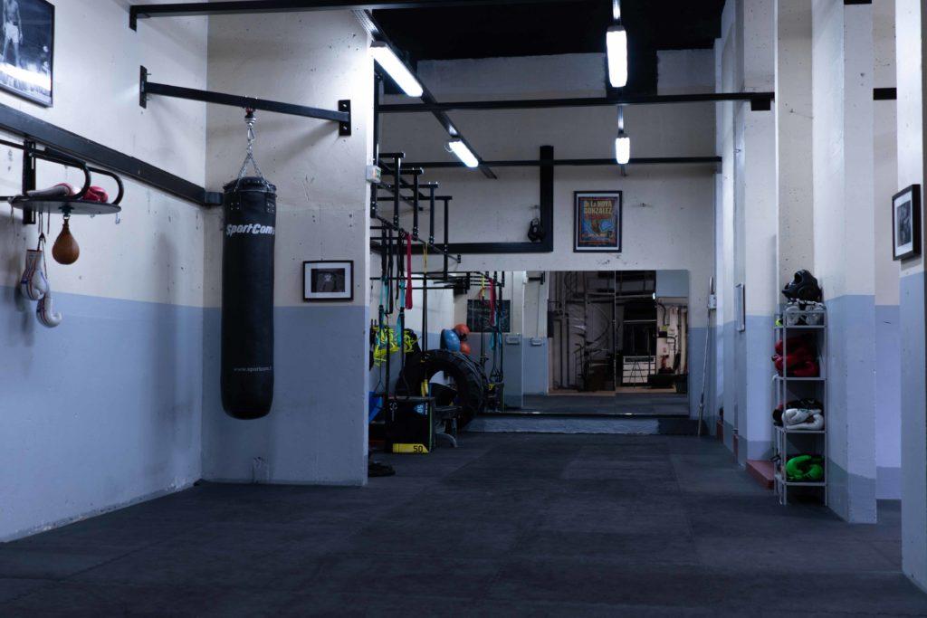 Intérieur salle Hall Boxing Paris